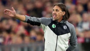 Schmidt, en un partido del Wolfsburgo