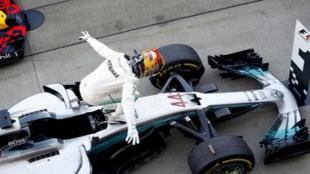 Lewis Hamilton, tras ganar el GP de Jap�n en Suzuka