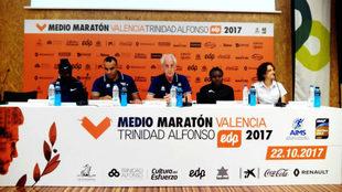 Imagen de la presentación élite del Medio Maratón de Valencia