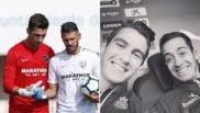 Andr�s Prieto, con Demichelis y con Lucas