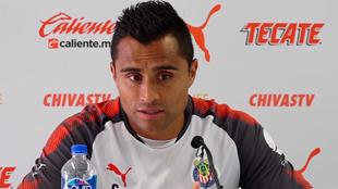 Edwin Hernández en conferencia de prensa.