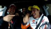 Márquez, con la gorra de Rossi