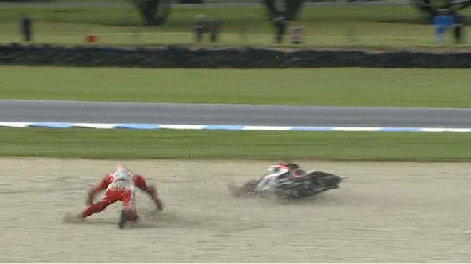 La caída de Lorenzo.