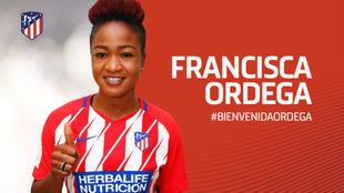 Ordega, en la web del Atlético.