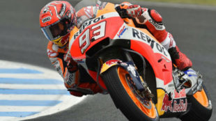 Marc M�rquez, en el circuito de Phillip Island