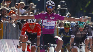 Fernando Gaviria, en el Giro de Italia.