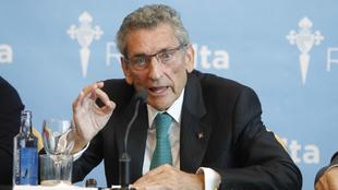 Carlos Mouriño (74), en una comparecencia de prensa