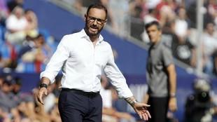 Pepe Bordalás durante el partido celebrado este sábado en Valencia.