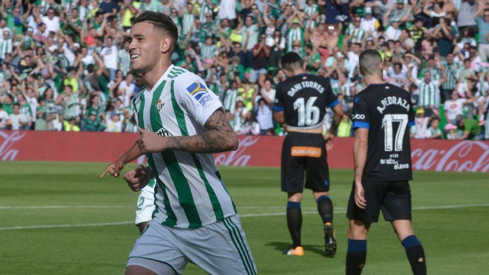 Sanabria, celebrando un gol
