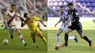 Rayo y Sporting, en Vallecas, y Valladolid y Lugo, en Zorrilla, lucha...