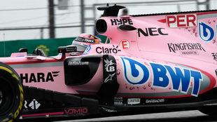 Checo Pérez, a los mandos de su Force India en Austin