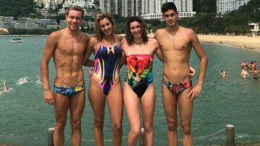 Los representantes españoles en la prueba de Hong Kong