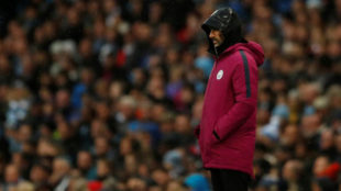 Guardiola, en el partido ante el Burnley