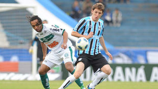 Imagen de un partido entre Gremio y Coritiba