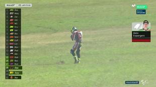 Aleix Espargaró, tras caerse en Phillip Island
