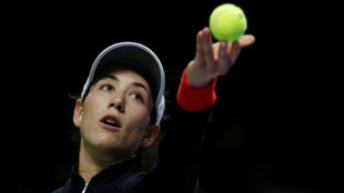 Garbiñe se dispone a sacar
