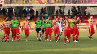 Los jugadores del Benevento, cabizbajos tras un partido