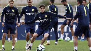 El Málaga vuelve a los entrenamientos.