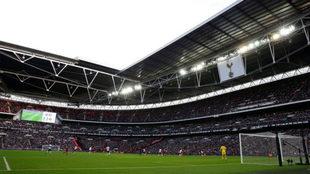 Wembley, durante el Tottenham - Liverpool.