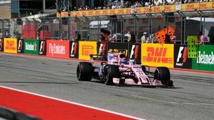 Pérez, a los mandos de su Force India en Austin