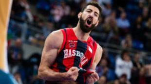 Shengelia, durante el encuentro ante el Gipuzkoa Basket