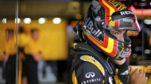 Carlos Sainz, con Renault en Austin