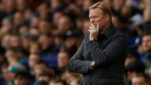 Koeman, con el Everton.