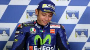 Valentino Rossi, en la rueda de prensa posterior al GP de Australia