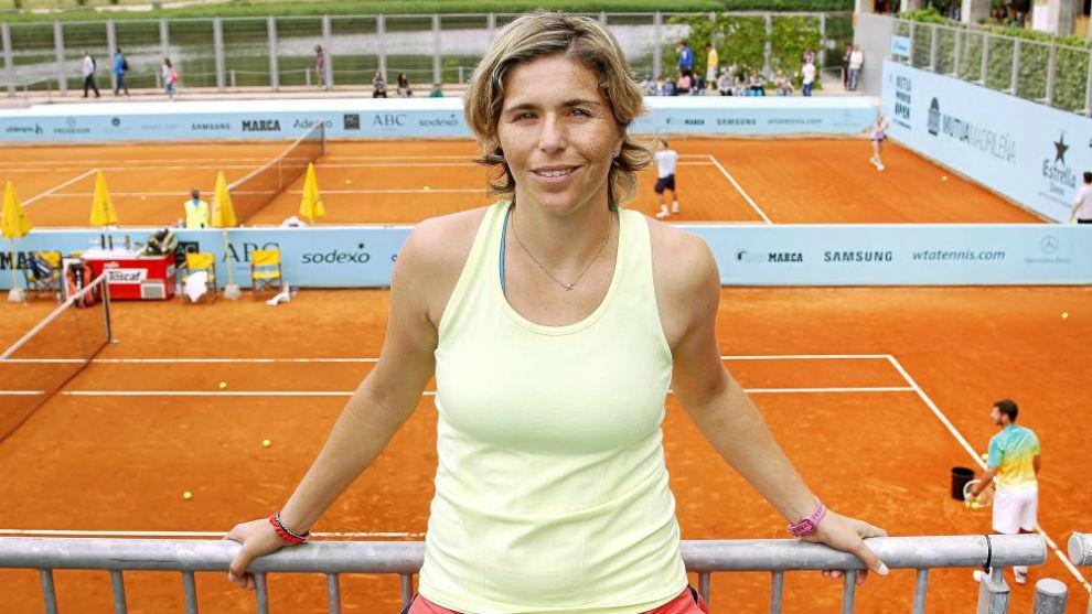 María José Martínez, en un torneo