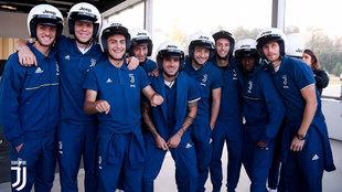Los jugadores de la Juve, en la sesión de pruebas