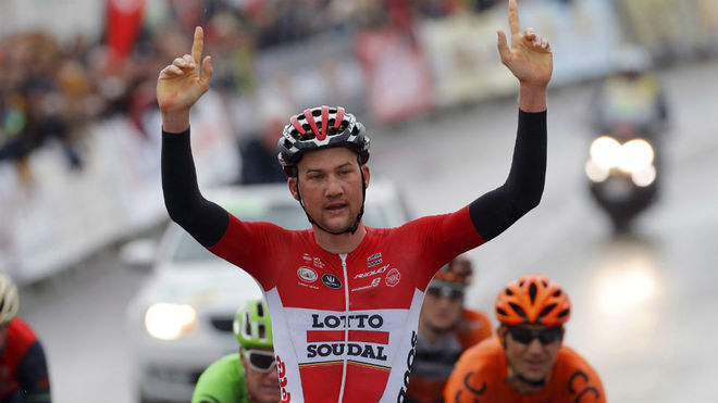 Tim Wellens, en la  Vuelta a Andalucía.