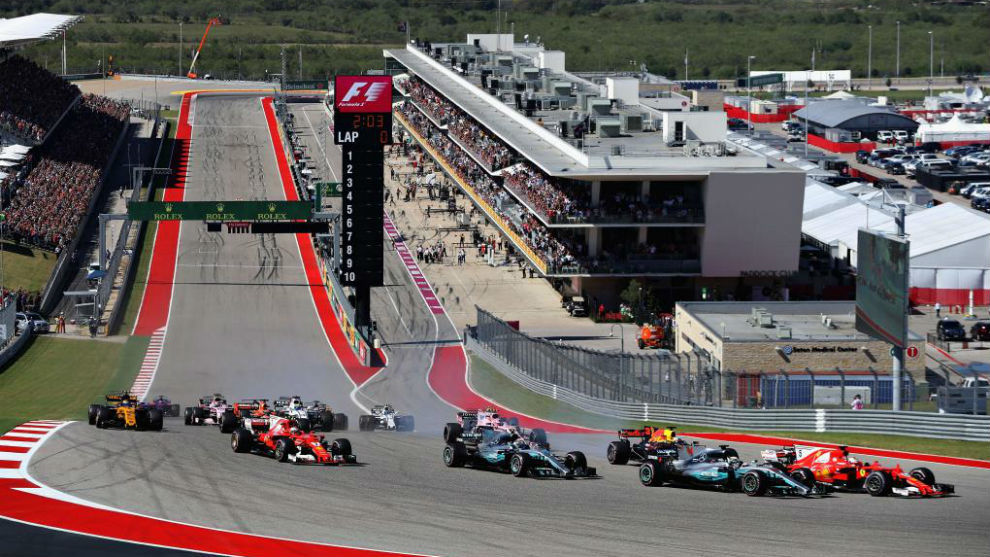 La salida del GP de EEUU en el Circuito de las Américas