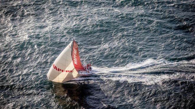 El VO65 MAPFRE navegando en aguas del Atlántico Norte