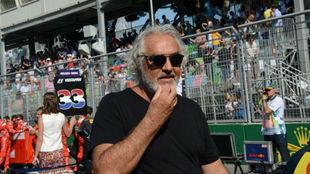 Flavio Briatore, en la parrilla del GP de Italia de esta temporada.l