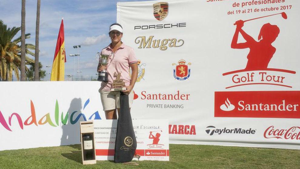 Natalia Escuriola, vencedora del Santander Campeonato de España de...