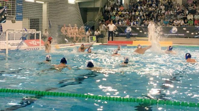 Una imagen del partido entre el CN Sabadell y el Szolnoki.