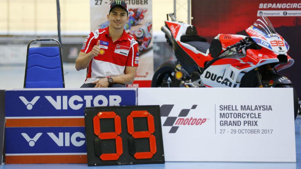Jorge Lorenzo, en los prolegómenos del GP de Malasia