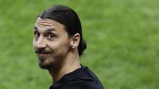 Zlatan Ibrahimovic (36), en la final de la Europa League entre el Ajax...