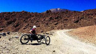 Gema Hassen-Bey, entrenándose en el Teide.