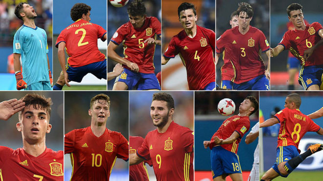 Who's who in the Spain U17s starting lineup?   MARCA in ...