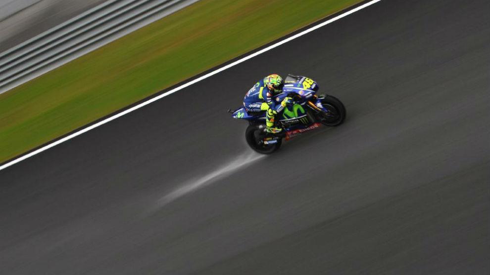 Valentino Rossi, en los entrenamientos libres de Malasia