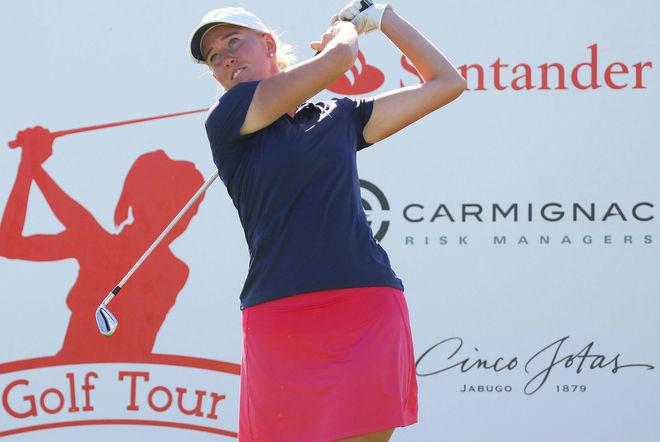 Emma Nilsson, durante la última ronda del Santander Golf Tour en El...