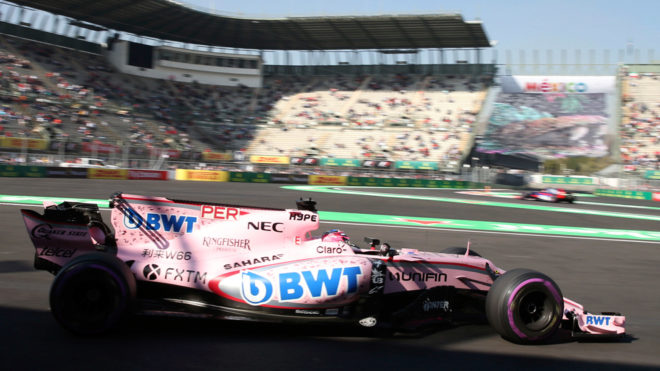 Pérez, rodando con su auto en Hermanos Rodríguez