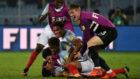 Los jugadores de Inglaterra sub 17 celebran su pase a la final.
