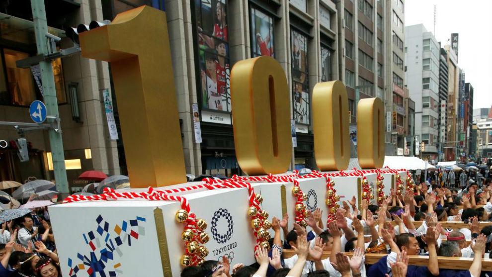 Actos de festejo de la cuenta atrás para los JJ.OO. de Tokio 2020.