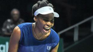 Venus grita durante el partido