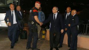 Real Madrid arrive peacefully in Girona