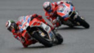 Lorenzo y Dovizioso, en Sepang