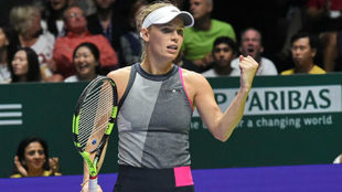 Wozniacki celebra el triunfo