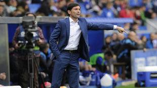Marcelino durante un partido del Valencia.